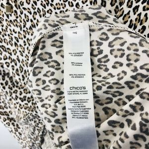Chico's Tops - Chico's Sz Small 4 0 Little Cheetah East West Top